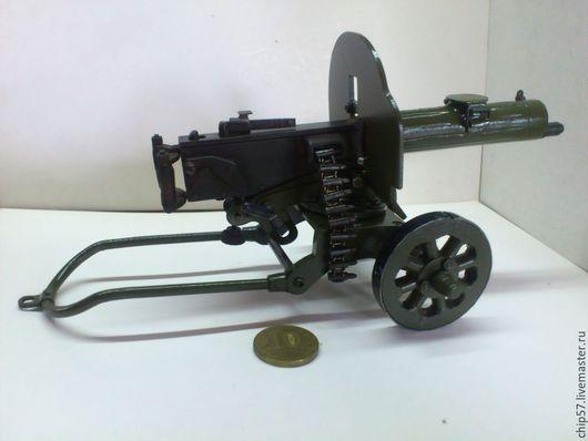 """Оружие ручной работы. Ярмарка Мастеров - ручная работа. Купить Пулемет """"Максим"""" 1:7 масштаб. Handmade. Хаки, подарок мужчине"""
