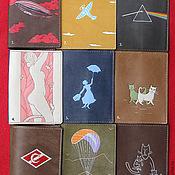"""Подарки к праздникам handmade. Livemaster - original item 54 обложки на паспорт """" Коты и Другие"""". Handmade."""