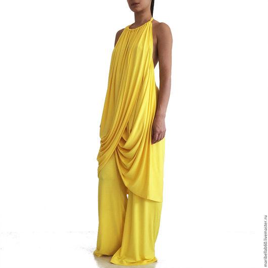 Платья ручной работы. Ярмарка Мастеров - ручная работа. Купить ATHENA  туника и брюки. Handmade. Желтый, туника летняя