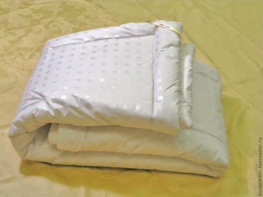 Пледы и одеяла ручной работы. Ярмарка Мастеров - ручная работа. Купить Одеяло для детской кроватки - шёлковое. Handmade. Белый