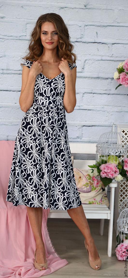 Платья ручной работы. Ярмарка Мастеров - ручная работа. Купить Платье Маэстро арт.5445. Handmade. Тёмно-синий
