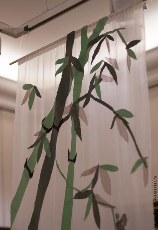 Пейзаж ручной работы. Ярмарка Мастеров - ручная работа. Купить Бамбуковый лес. Handmade. Панно, текстиль для интерьера, бамбук