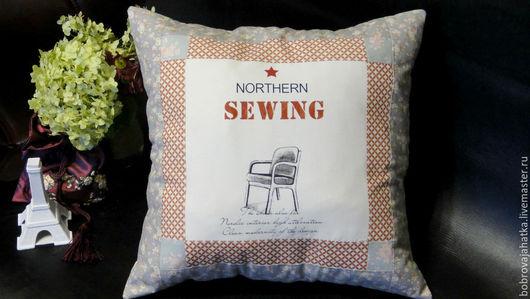 Текстиль, ковры ручной работы. Ярмарка Мастеров - ручная работа. Купить Диванная подушка на диван Модный винтаж Печворк наволочки подарок маме. Handmade.