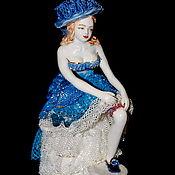 Для дома и интерьера handmade. Livemaster - original item Lady before going out. Lace figurine.. Handmade.
