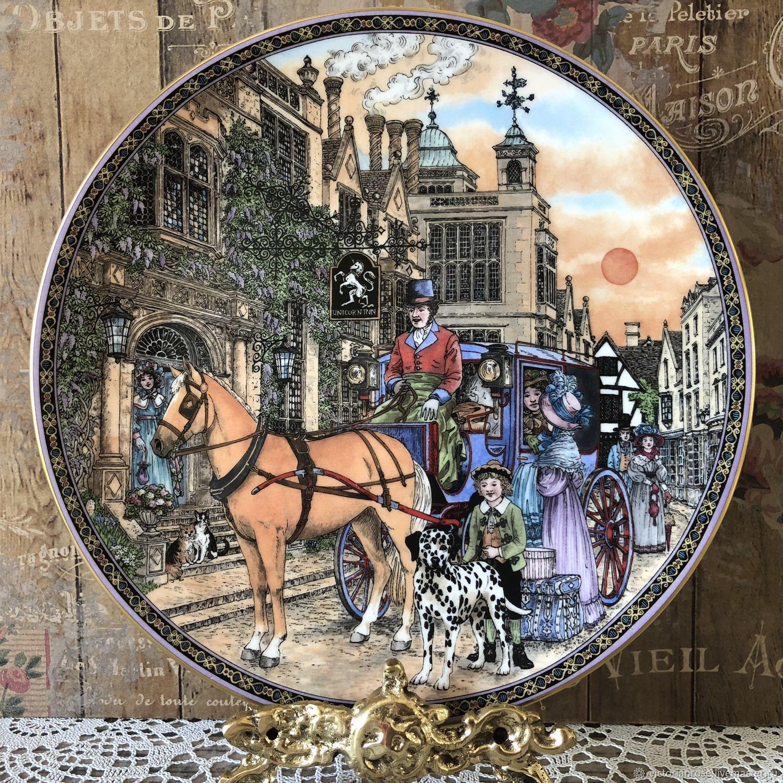 Винтаж: Постоялый двор Декоративная тарелка Royal Worcester, Винтажные предметы интерьера, Лондон, Фото №1