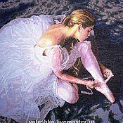 """Картины и панно ручной работы. Ярмарка Мастеров - ручная работа Вышитая картина """"Прекрасная балерина"""". Handmade."""