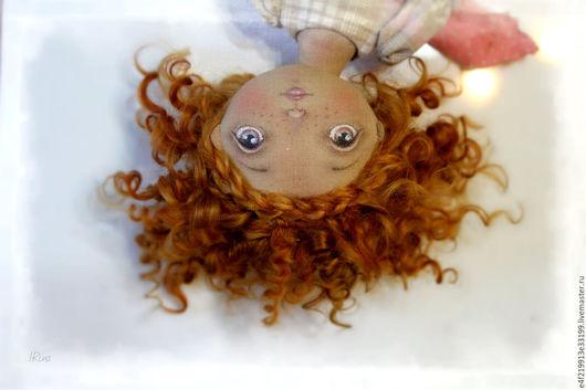 Коллекционные куклы ручной работы. Ярмарка Мастеров - ручная работа. Купить Солнышко. Handmade. Рыжий, Рыжая, Клеточка, хлопковая ткань