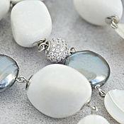 Украшения handmade. Livemaster - original item Necklace of agate, mother of pearl and Mallorca