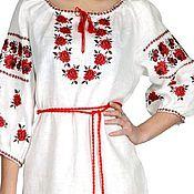 Одежда ручной работы. Ярмарка Мастеров - ручная работа Платье в славянском стиле вышитое на льне. Handmade.