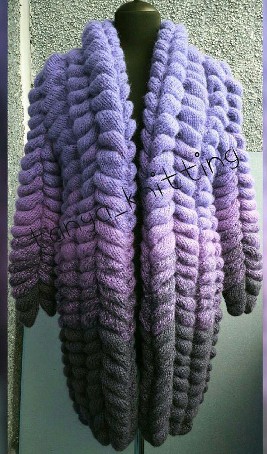 Пиджаки, жакеты ручной работы. Ярмарка Мастеров - ручная работа. Купить Кардиган Лало Лиловый. Handmade. Кардиган, вязание на заказ
