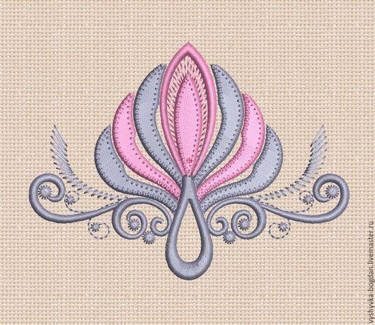 Дизайн для машинной вышивки `Греческий завиток` вельвет bt111. Размер пялец 10 x 10 см; 18 х 13 см Форматы: exp dst pes hus jef vip vp3 xxx