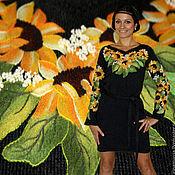 """Одежда ручной работы. Ярмарка Мастеров - ручная работа Платье """"Солнечные подсолнухи"""". Handmade."""
