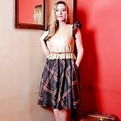 Одежда ручной работы. Ярмарка Мастеров - ручная работа Платье комбинированное. Handmade.