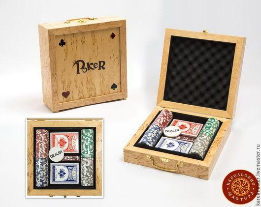 Настольные игры ручной работы. Ярмарка Мастеров - ручная работа. Купить Набор для покера. Handmade. Покер, азарт, сувениры и подарки