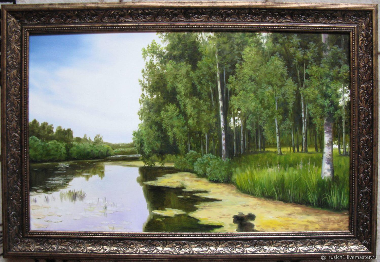 Тишина пруда. 50х80см, Картины, Щелково,  Фото №1