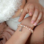 Украшения handmade. Livemaster - original item Children`s pearl bracelet. Handmade.