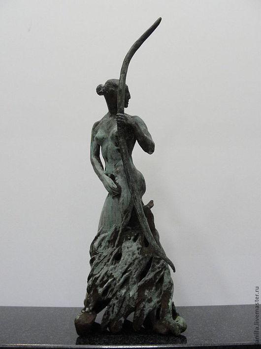 Персональные подарки ручной работы. Ярмарка Мастеров - ручная работа. Купить Интерьерная статуэтка Артемида.. Handmade. Интерьерная статуэтка, золотой