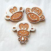"""Сувениры и подарки ручной работы. Ярмарка Мастеров - ручная работа Новогодние пряники """"обезьянка"""" символ 2016 года. Handmade."""