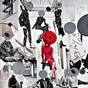 Картины и панно ручной работы. Ярмарка Мастеров - ручная работа Картина в стиле современного искусства в технике коллаж Художница. Handmade.