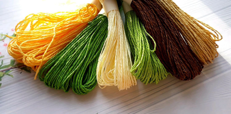 Бумажный декоративный шнур, цвета в ассортименте, Шнуры, Ижевск,  Фото №1