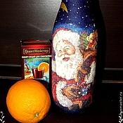 Подарки к праздникам ручной работы. Ярмарка Мастеров - ручная работа Шампанское новогоднее. Handmade.