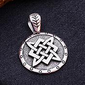 Украшения handmade. Livemaster - original item The Star of Russia and the Tree of Life Shield. Silver 925 art.1013104. Handmade.
