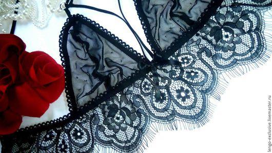 черный цветочный кружевное белье белье на заказ белье ручной работы красивое белье подарок девушке подарок женщине кружева