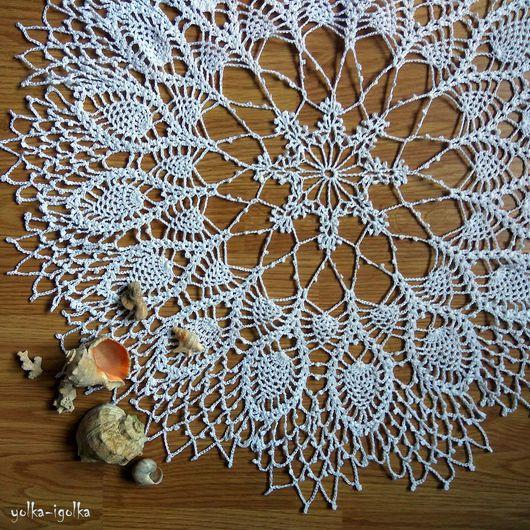 Текстиль, ковры ручной работы. Ярмарка Мастеров - ручная работа. Купить Кружевная салфетка белого цвета. Handmade. Салфетка, белый