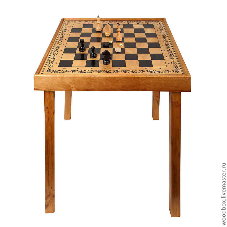 Table games 3 in 1 chess-checkers-backgammon with playing facilities, Tables, Moscow,  Фото №1