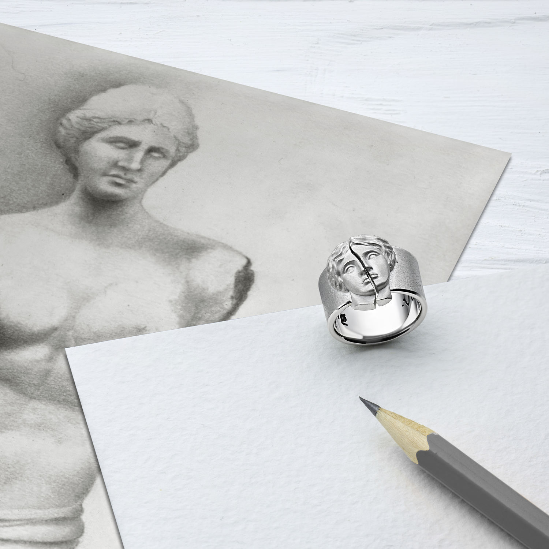 Серебряное кольцо ВЕНЕРА ручной работы VENUS, Кольца, Москва,  Фото №1