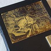 """Записные книжки ручной работы. Ярмарка Мастеров - ручная работа Книга блокнот """"Телец"""" с персональной буквицей. Handmade."""