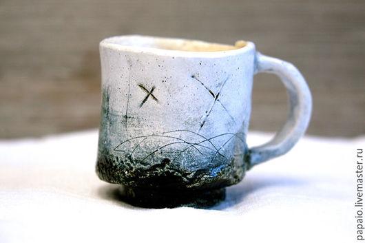 Кружки и чашки ручной работы. Ярмарка Мастеров - ручная работа. Купить Rustic Fog_3. Handmade. Белый, глина, керамика