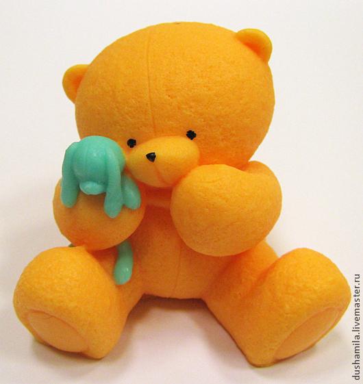 Мыло ручной работы. Ярмарка Мастеров - ручная работа. Купить Мыло Мишка с игрушкой. Handmade. Оранжевый, мишка в подарок