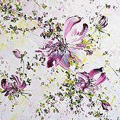 Картины и панно ручной работы. Ярмарка Мастеров - ручная работа Светлая картина маслом «Розовые цветы» для больших и маленьких квартир. Handmade.