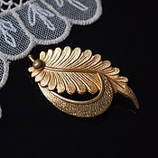Винтаж handmade. Livemaster - original item Gold leaf, elegant vintage brooch. Handmade.