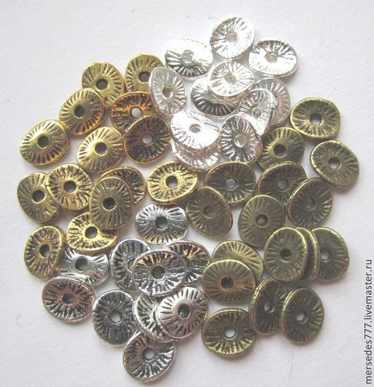 Для украшений ручной работы. Ярмарка Мастеров - ручная работа. Купить Спейсеры волнистые маленькие (цена за 50 шт). Handmade.