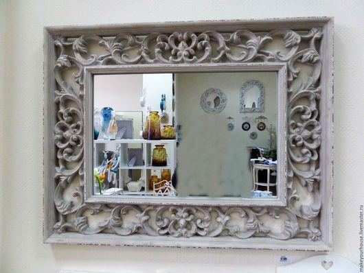 Зеркала ручной работы. Ярмарка Мастеров - ручная работа. Купить Зеркало прямоугольное с цветочным орнаментом. Handmade. Зеркало, зеркало в раме