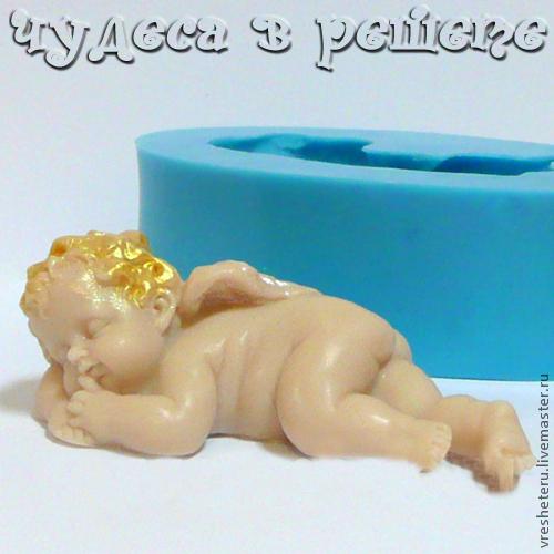 Материалы для косметики ручной работы. Ярмарка Мастеров - ручная работа. Купить Спящий ангел-2, объемная силиконовая форма. Handmade.