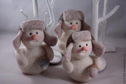 Новый год 2017 ручной работы. Ярмарка Мастеров - ручная работа. Купить Наш Снеговик. Handmade. Снеговики, Валяние, зима