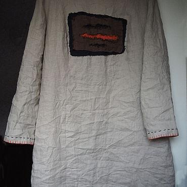Одежда ручной работы. Ярмарка Мастеров - ручная работа Платье из невыбеленного льна с вышивкой. Handmade.