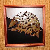 Картины и панно ручной работы. Ярмарка Мастеров - ручная работа Рыба. Handmade.