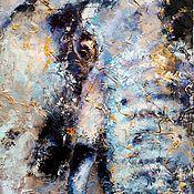 Картины и панно handmade. Livemaster - original item Elephant painting (texture painting, light green). Handmade.