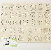 Мягкие игрушки ручной работы. Ярмарка Мастеров - ручная работа Деревянный алфавит-пазл. Handmade.
