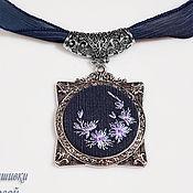 Украшения handmade. Livemaster - original item Embroidered pendant Simoro. Handmade.