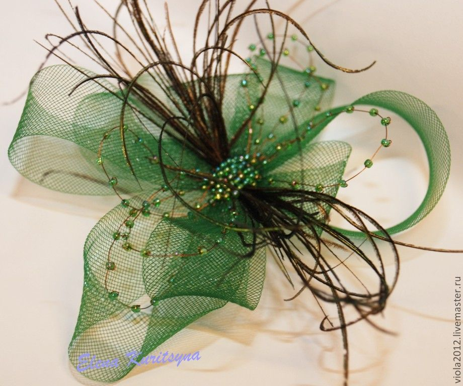 Evening hat-veil 'Eliza', Hats1, St. Petersburg,  Фото №1