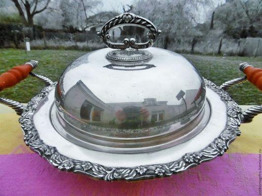 Винтажная посуда. Ярмарка Мастеров - ручная работа. Купить Бронь!Старинное блюдо с крышкой бакелит посеребрение Англия. Handmade. Винтажное блюдо