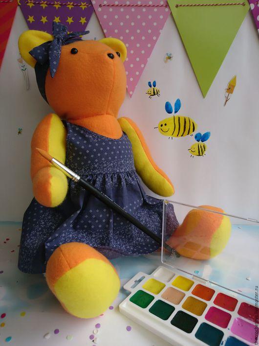 Игрушки животные, ручной работы. Ярмарка Мастеров - ручная работа. Купить Медведь текстильный игрушка мягкая Мила. Handmade. Комбинированный