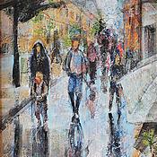 """Картины и панно ручной работы. Ярмарка Мастеров - ручная работа картина """"Париж"""" из серии города и страны. Handmade."""