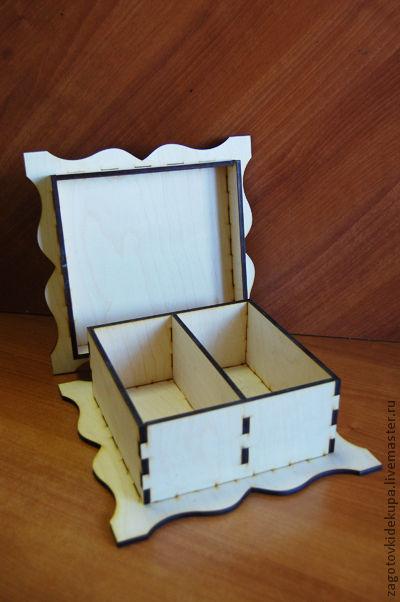 Шкатулка для чая (продается в разобранном виде) Не комплектуется фурнитурой Размер: 25х25х10 см Материал: фанера 6 мм