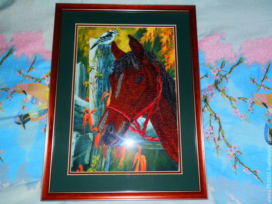 Животные ручной работы. Ярмарка Мастеров - ручная работа. Купить лошадь. Handmade. Коричневый, зеленый, серебро, бисер чешский